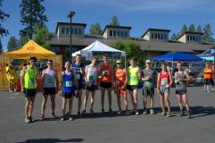 2015 Dirty Half Marathon. Mario Mendoza, Max King, Rob Russell, Thomas Morgan, David Mckay, Ryan Mcglaughlin, Jeff Browning, Cameron Kruez, Ian Sharman, Chris Paterson and Jordan Wolfe.