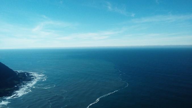 Cape Perpetua on a sunny day